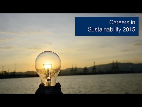 Careers in Sustainability 2015
