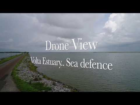 Drone View - Keta lagoon ( Sea Defense )