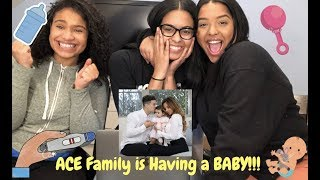 Mommy & daughter surprise daddy with pregnancy announcement Ace Family REACTION | ISSAMIGAS