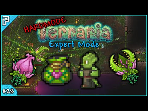 Let's Play Terraria 1.3 Expert Mode (PC) | Epic Plantera Battles! Temple Clearup! [#28]