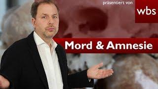 Sind Mörder auch mit Amnesie schuldfähig? | Rechtsanwalt Christian Solmecke
