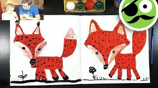 How to draw a fox / How to paint a fox