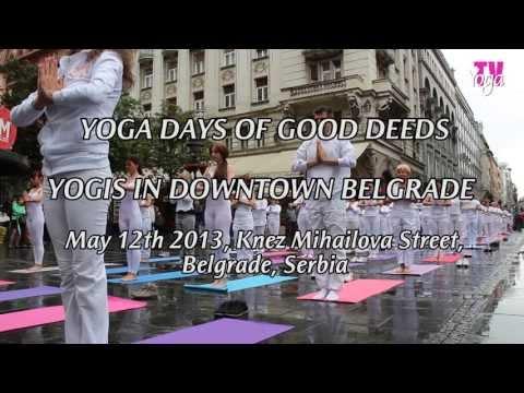 YOGA DAYS OF GOOD DEEDS - YOGIS IN DOWNTOWN BELGRADE  - May, 12th 2013, Belgrade, Serbia