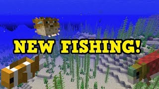 Minecraft Update Aquatic - FISH Guide & How To SWORD FISH