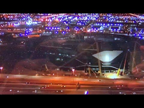 Las Vegas Allegiant Stadium Construction Update - Rain, 2020 NFL Combine Preview Livestream