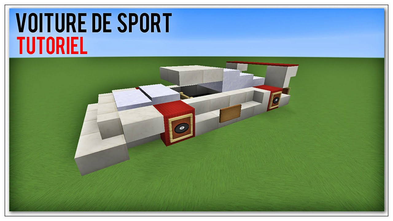 tuto minecraft comment faire une voiture de sport youtube. Black Bedroom Furniture Sets. Home Design Ideas