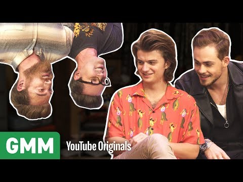 Download Youtube: Upside Down Interview w/ Stranger Things' Joe Keery & Dacre Montgomery