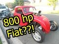 800 hp Fiat at Car show at Glory Days Seal Beach CA - Challenge continued