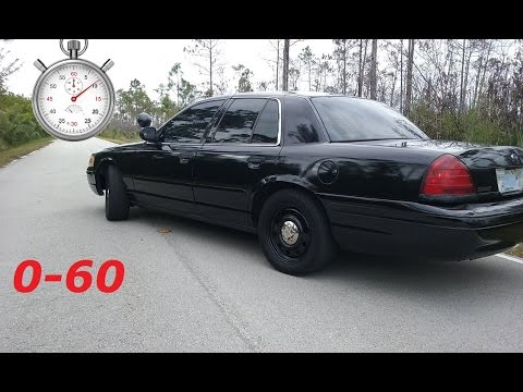 0-60 On A Crown Victoria Police Interceptor