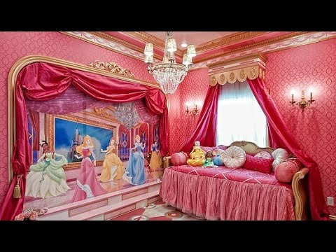 27 disney princess bedroom decor ideas youtube for Princess style bedroom furniture