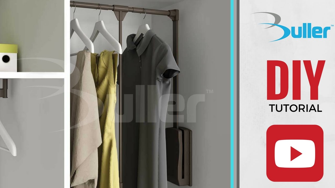 How To Install Moka Pull Down Wardrobe Clothes Rail From Buller