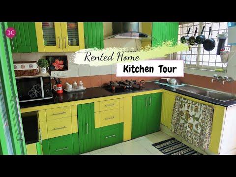 Indian Kitchen Tour 2018 | Rented Apartment Kitchen Tour | Kitchen Storage Ideas | 10 ZONE TIPS
