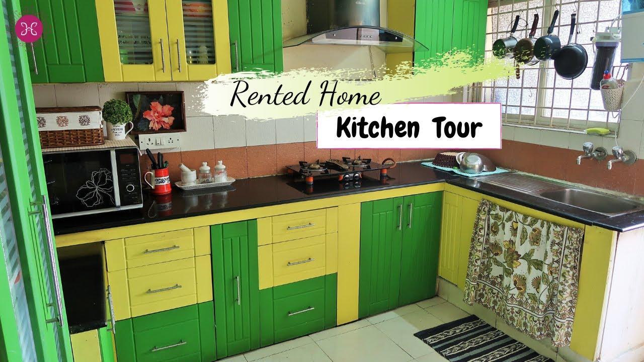 Indian Kitchen Tour 2018 | Rented Apartment Kitchen Tour | Kitchen ...