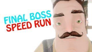 HELLO NEIGHBOR BETA 3 FINAL BOSS speed run