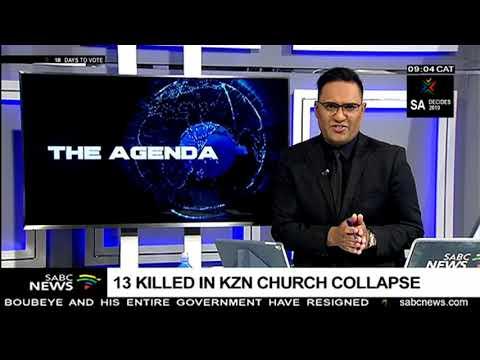13 killed in KwaZulu-Natal church collapse