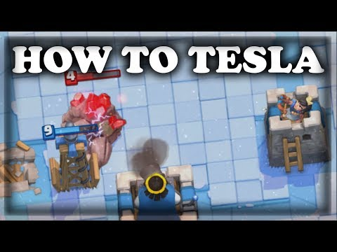 How to Use Tesla | Clash Royale 🍊