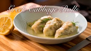 Greek Cabbage Rolls/ Lahanodolmades