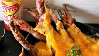 """cheesy Bacon Wrapped Pretzels"""