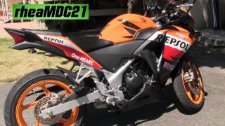Honda CBR 250R Repsol Moto GP with an Invisible Termignoni Exhaust