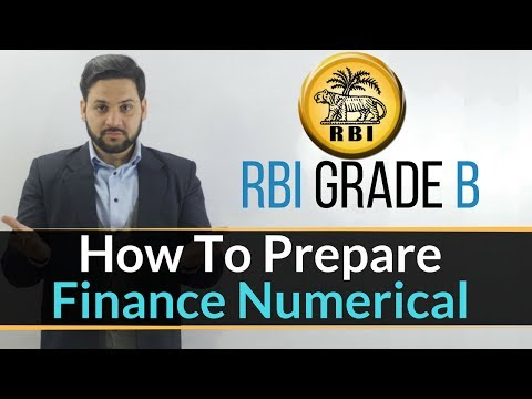 How To Prepare Finance Numericals For RBI Grade B