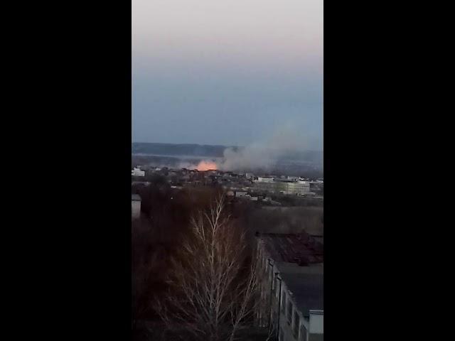 Крупный пожар в Сызрани 17.04.2019