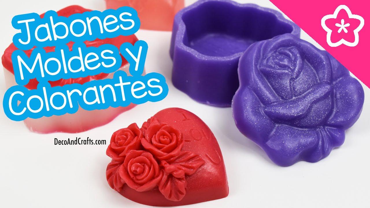 Jabones Caseros Decorativos probando Moldes y Colorantes ...