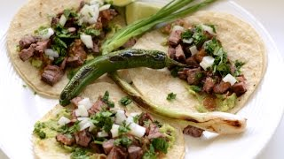 Carne Asada Tacos Recipe / English Subtitles