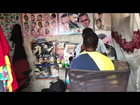 Hair saloon at Accra Sunday Market