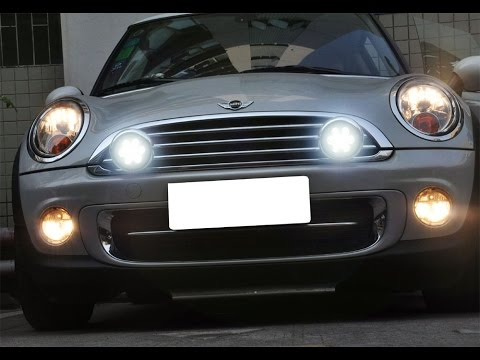 MINI Cooper LED Rally Lights with Daytime Running Light and Driving Light Feature  YouTube