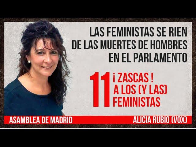 MUJERES MALTRATADORAS y mujeres asesinas. 11 ZASCAS💥de Alicia Rubio (en el Parlamento)