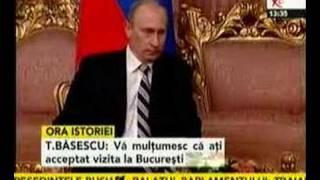 Întâlnire între Vladimir Putin şi Traian Băsescu