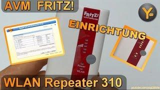 Einrichtung & Konfiguration: AVM FRITZ! WLAN Repeater 310 / WiFi Verstärker 802.11b/g/n WPA2