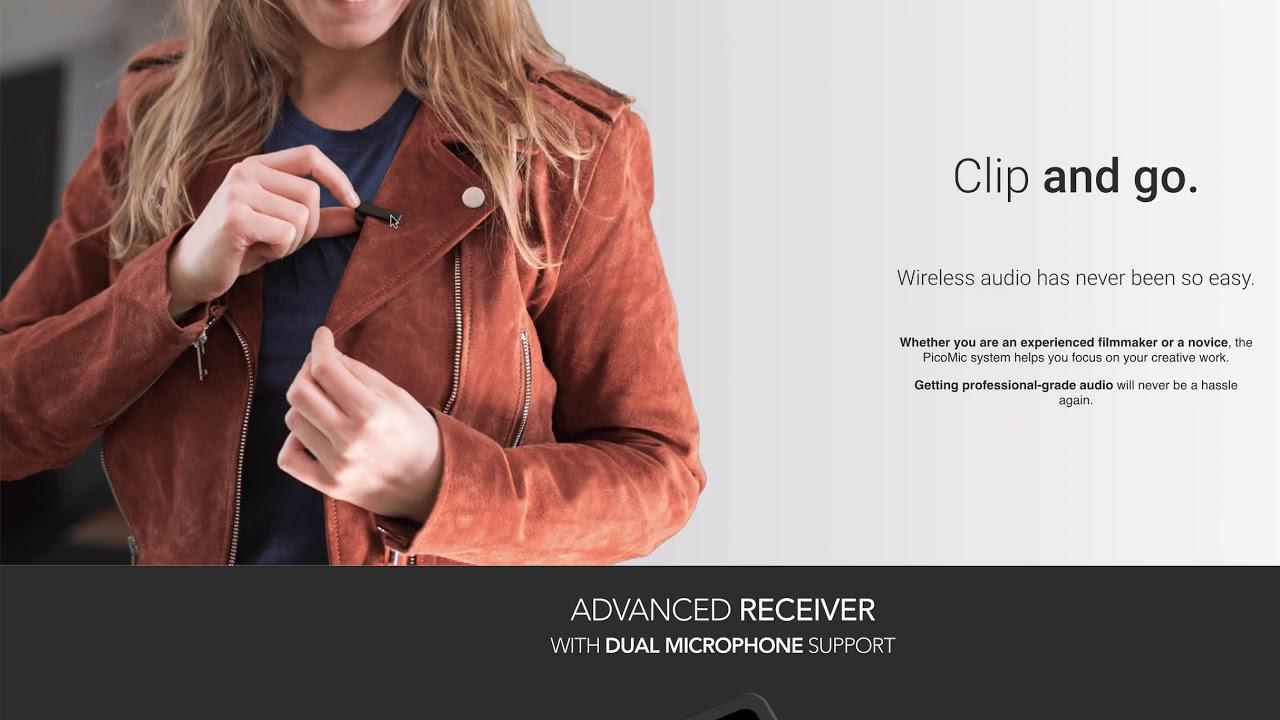 PICOGEAR Dual Wireless Lav Mic Kit - iPhone Audio