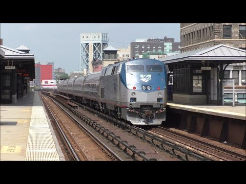 Amtrak & Metro-North HD 60fps: One Hour of Assorted Action @ Harlem-125th Street (7/10/17)