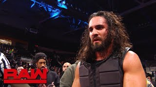 Seth Rollins exits the arena following Ambrose assault: Raw Exclusive, Oct. 22, 2018