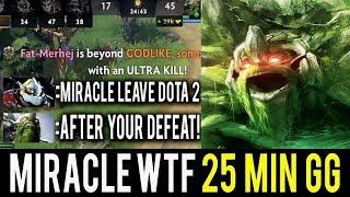 WTF 30 Kills in 25 Min Miracle- NEXT LEVEL Stone Giant Tiny 2 kills per min INSANE Dota 2