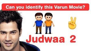 Varun dhawan emoji challenge! guess bollywood movies