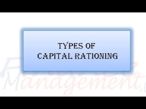 explain capital rationing