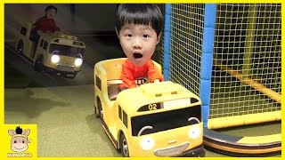 Indoor Fun Playground for Kids and Family Tayo Bus тайо Rainbow Colors Play | MariAndKids Toys