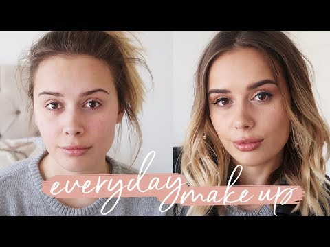 0 - 100: EVERYDAY MAKEUP GET READY WITH ME   Hello October Tutorial