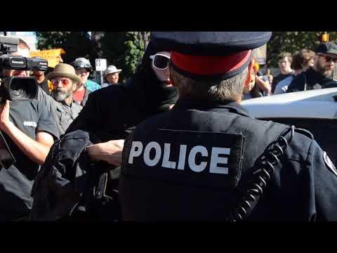 Anti racism rally turns violent