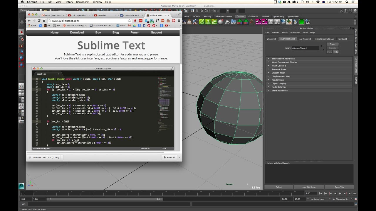Installing Sublime: Great Txt Editor For Maya (for mel and python)