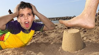had a Fun Day on the Beach! Playing with Sand and other