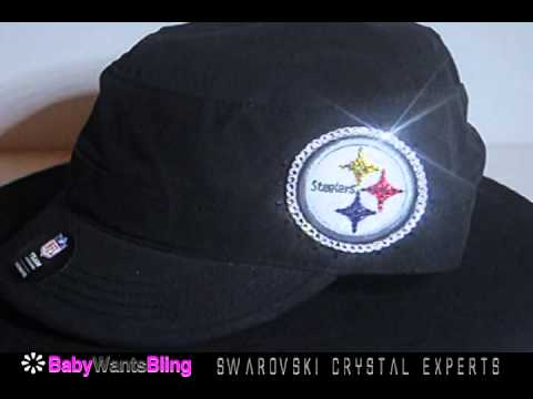 Pittsburgh Steelers Swarovski Crystal Bling Rhinestone Cadet Womens Hat Cap 0a2b662d5
