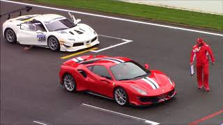 Brand new Ferrari 488 Pista racing at Ferrari Racing days on Spa Francorchamps