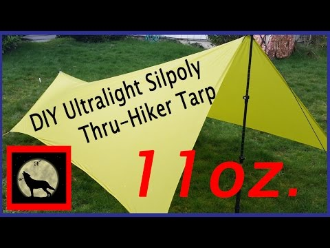 DIY Ultralight Silpoly Trekking Pole  Thru-Hiker Tarp 11oz