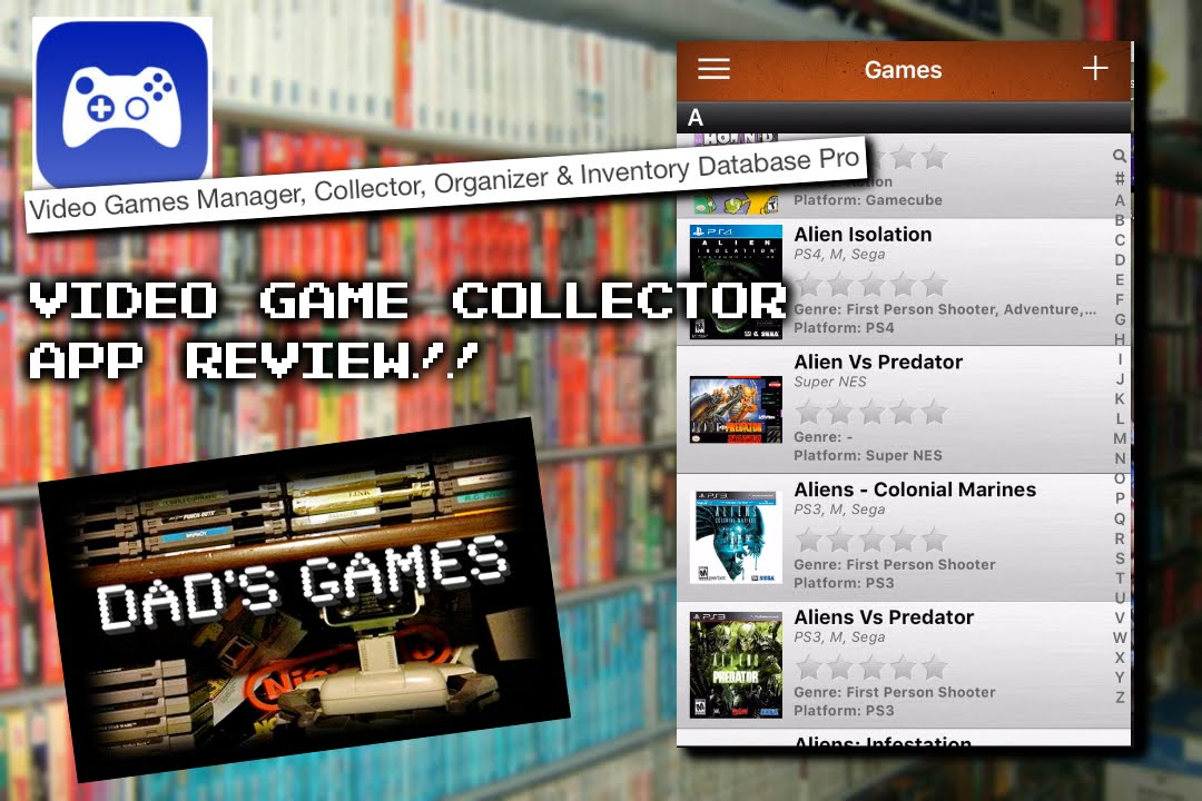 Video Game Collector App Review!!