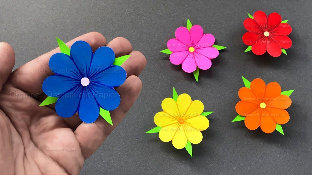 Blumen Basteln Mit Papier Deko Geschenke Selber Machen Bastelideen Mit Origami Papier Youtube