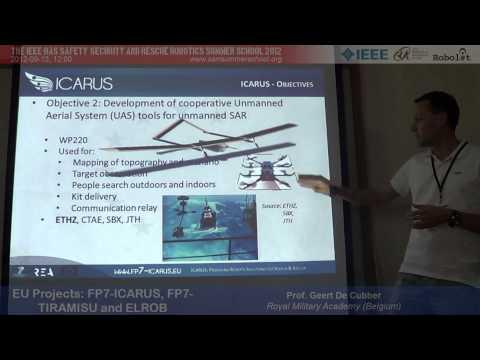 SSRRSS'12: EU Projects FP7-ICARUS, FP7-TIRAMISU, ELROB