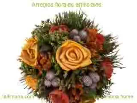 Arreglos florales artificiales secos  La Llimona  YouTube